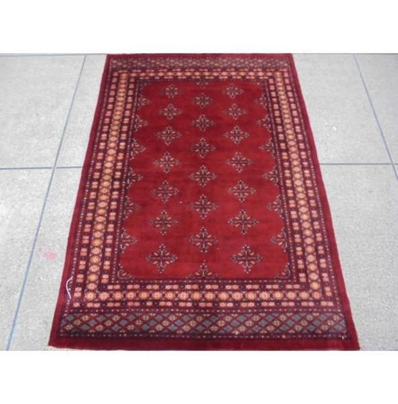 Luxurious 6x4 Authentic Hand Knotted Mori Bokhara Rug - Pakistan