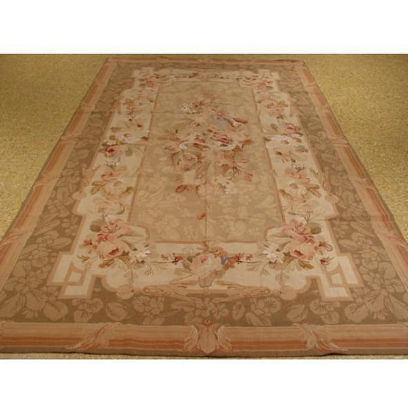 5x8 Authentic Flat-woven Handmade Needlepoint Aubusson Style Rug - China