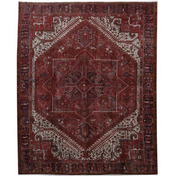 10x12 Authentic Hand-knotted Persian Heriz Rug - Iran
