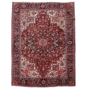 7x13 Authentic Hand Knotted Persian Heriz Rug - Iran