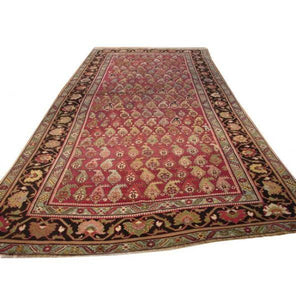 6x14 Authentic Handmade Persian Kerman Paisley Rug