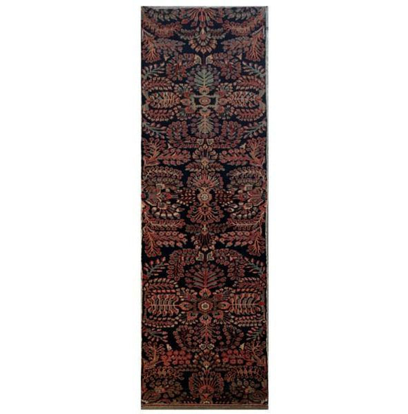 3x12 Authentic Hand-knotted Persian Hamadan Rug - Iran