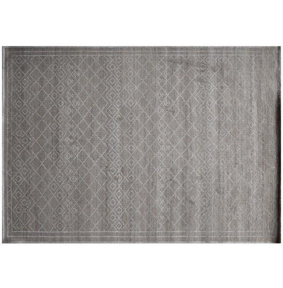 8x12 Authentic Hand-Knotted Modern Rug - India