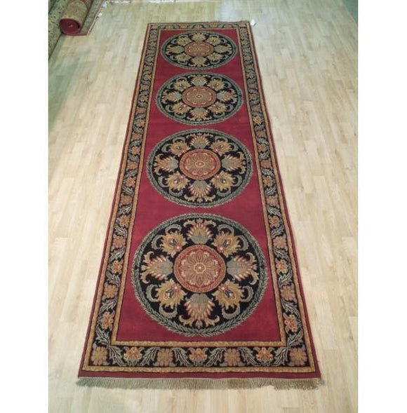 4x12 Authentic Hand Knotted Persian Tehran Runner - Iran