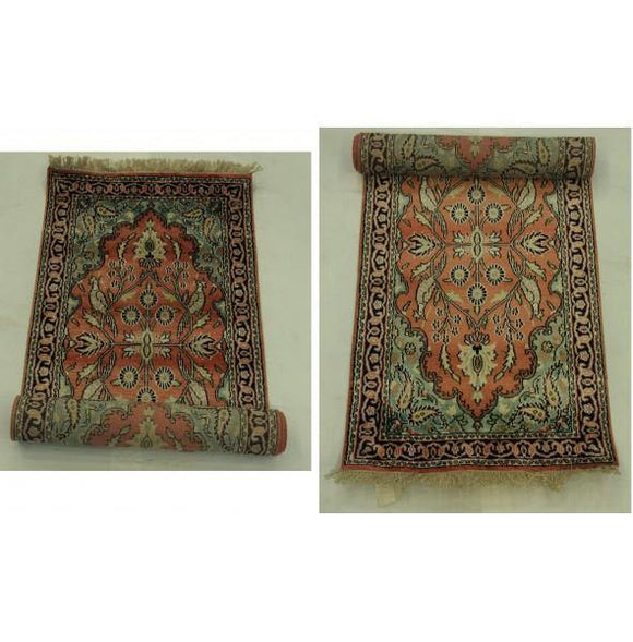 Dazzling 2x7 Authentic Hand-knotted Silk Runner - China