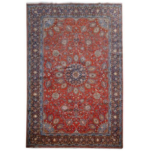 10x16 Authentic Hand-knotted Persian Mahal Rug - Iran