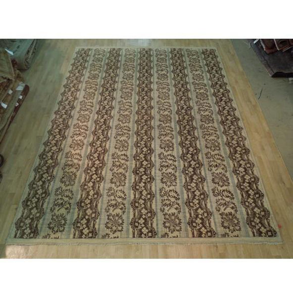 Dazzling 12x9 Authentic Hand Knotted Vegetable Dyed Chobi Rug - India