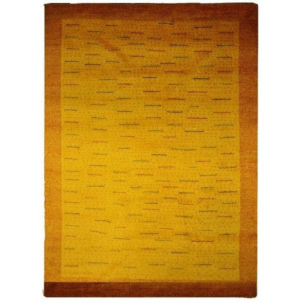 Harooni Rugs - Exotic 7x10 Authentic Hand-knotted 1 inch Thick Modern Gabbeh - Rug