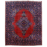 10x13 Authentic Hand Knotted Persian Mashad Rug - Iran