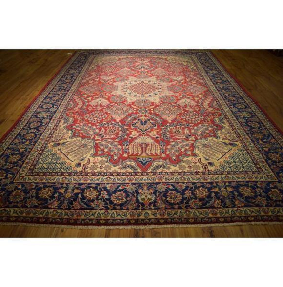 Luxurious 11x13 Authentic Hand Knotted Rug