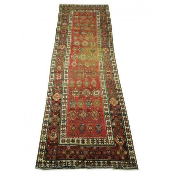 3x11 Authentic Hand Knotted Semi-Antique Persian Hamadan Runner - Iran