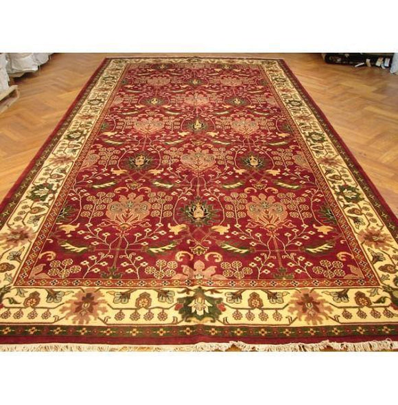 Fascinating 9x18 Authentic Handmade Agra Rug-India