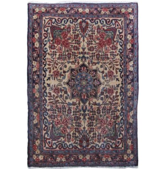 2x3 Authentic Hand-knotted Persian Bijar Rug - Iran
