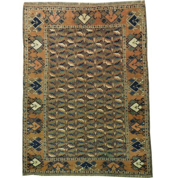 4x6 Authentic Handmade Rug-Afghan