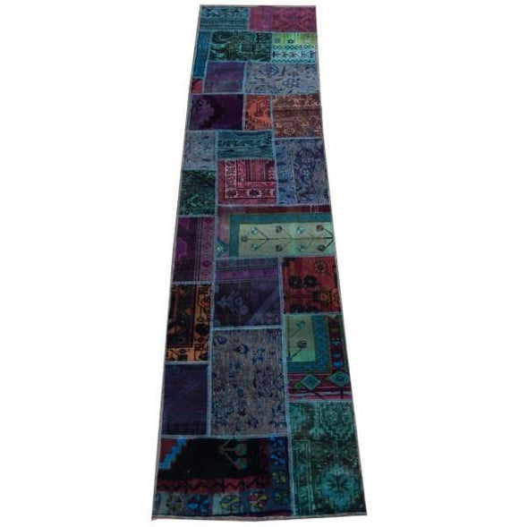 3x10 Authentic Handmade Persian Patchwork Runner - Iran