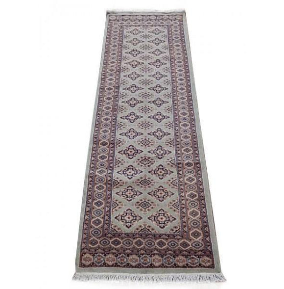 Luxurious 2x7 Authentic Hand Knotted Jaldar Bokhara Rug - Pakistan