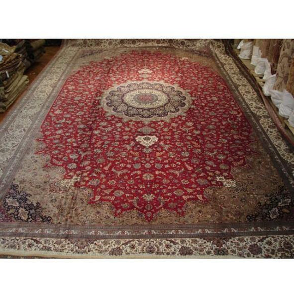 16x26 Authentic Handmade Finest Quality Original Persian Qum Silk Rug - Iran