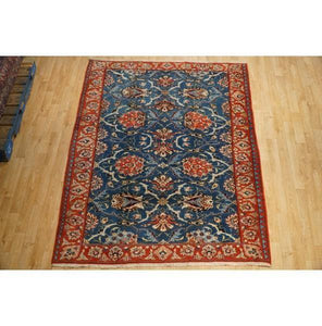 5x7 Authentic Hand Knotted Semi-Antique Persian Waramin Rug - Iran