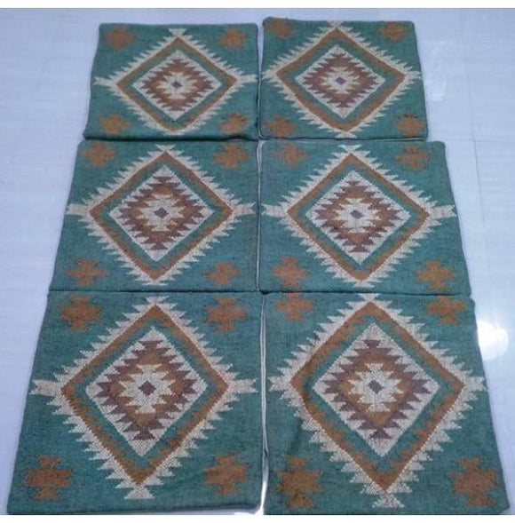 2x2 Authentic Hand Knotted Pillow Cover Kilim - India