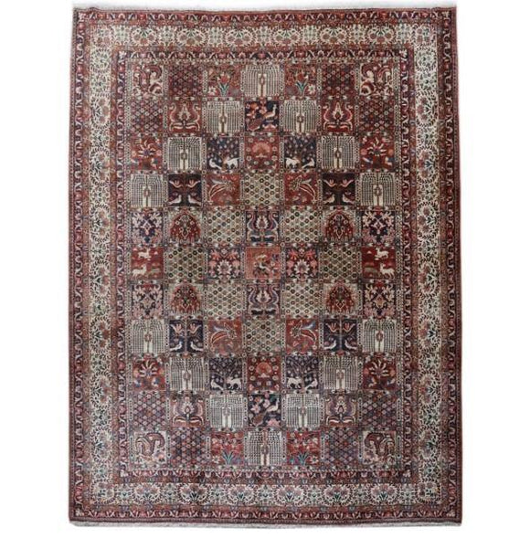11x14 Authentic Hand-knotted Persian Bakhtiari Rug - Iran