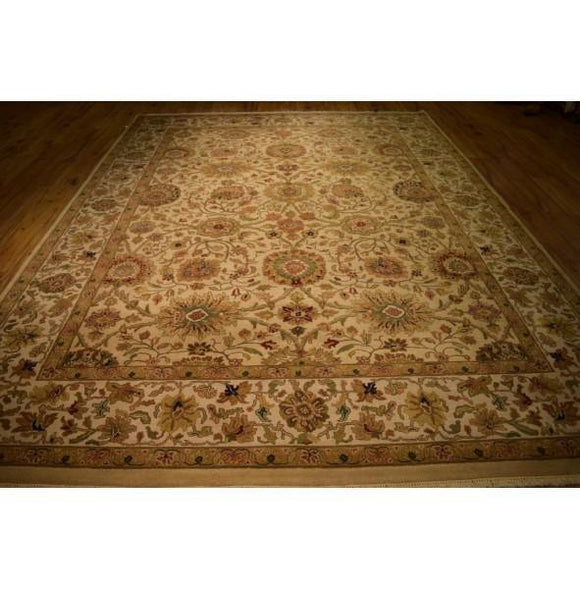 Harooni Rugs - Dazzling 9x12 Authentic Hand Knotted Jaipur Rug - India