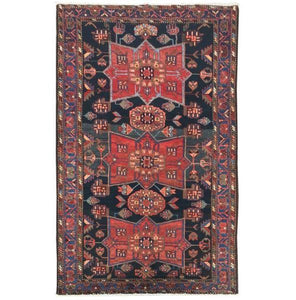 4x7 Authentic Hand-knotted Persian Hamadan Rug - Iran