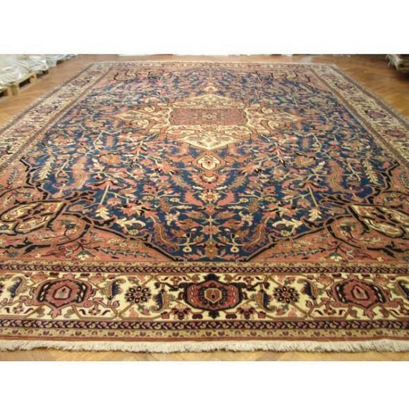 13x20 Authentic Handmade Persian Heriz Rug-Iran
