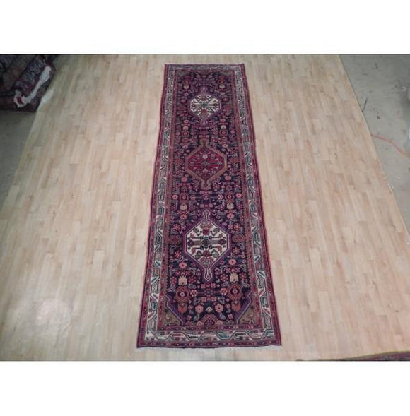 3x11 Authentic Handmade Semi-Antique Persian Hamadan Runner - Iran