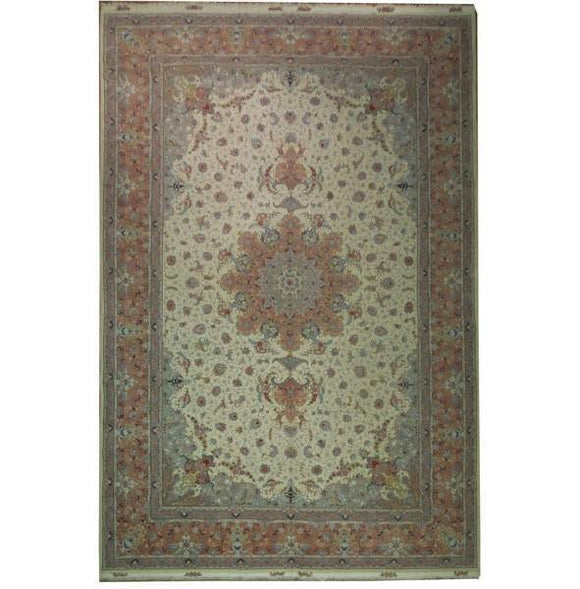 13x20 Authentic Handmade Super Fine Silk&Wool Persian Tabriz Rug - Iran