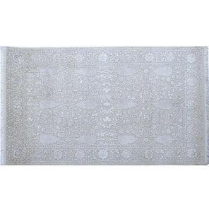 Harooni Rugs - Dazzling 3x5 Authentic Hand Knotted Wool & Silk Fine 12/60 Quality Rug - India