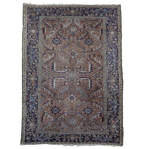 8x10 Authentic Handmade Semi-Antique Persian Heriz Rug - Iran