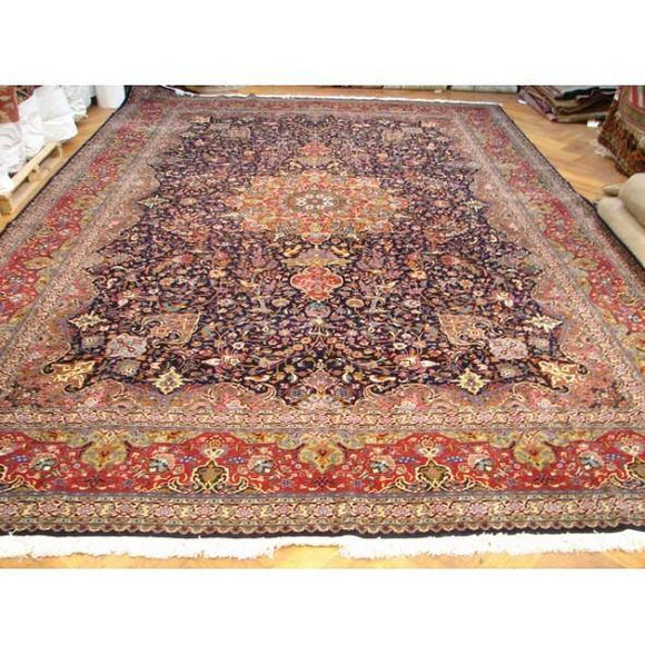 13x20 Authentic Handmade Fine Persian Tabriz Rug-Iran