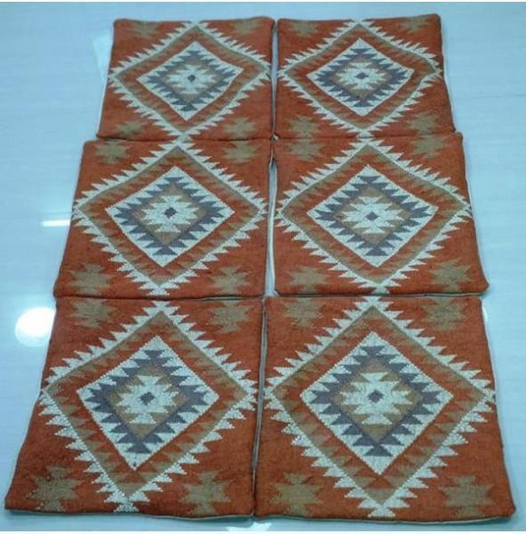 Harooni Rugs - Exotic 2x2 Authentic Hand Knotted Pillow Cover Kilim - India