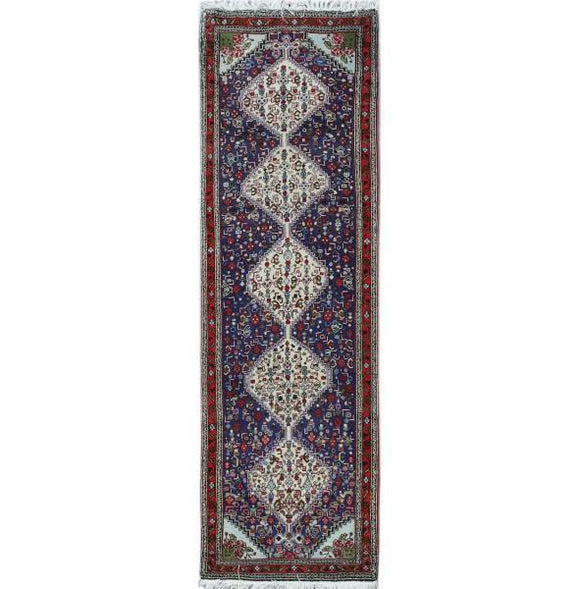 Luxurious 2x8 Authentic Hand-knotted Persian Sanandaj Rug - Iran
