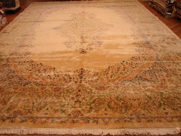 12x18 Authentic Handmade Antique Persian Kerman Rug-Iran