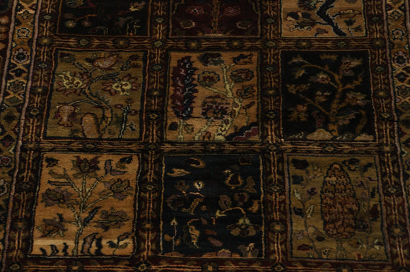 Harooni Rugs - Dazzling 4x12 Authentic Hand-knotted Bakhtiari Design Jaipur - Rug