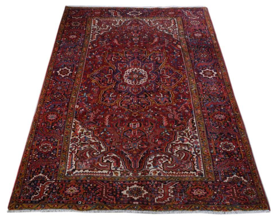8x12 Authentic Hand-knotted Persian Heriz Rug - Iran