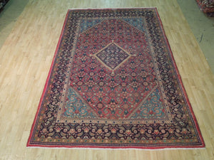 Authentic Hand-Knotted 6x10 Semi Antique Persian Yalameh Rug - Traditional
