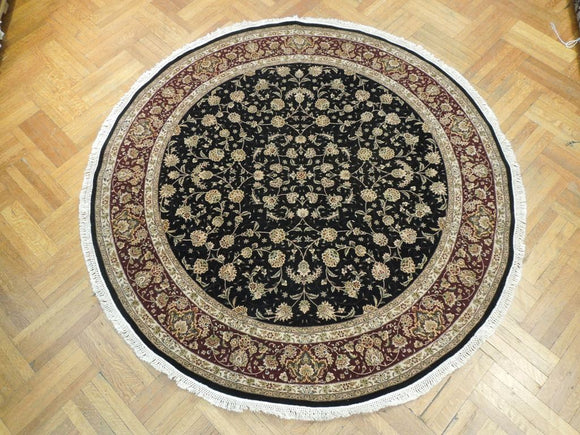 8x8 Authentic Handmade Fine Quality Wool&Silk Round Rug - China