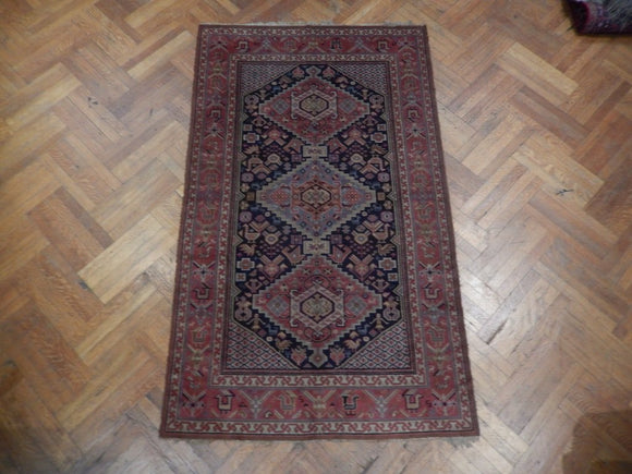 5x8 Authentic Hand Knotted Antique Kazak Rug - Russia
