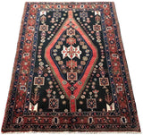 Harooni Rugs - Authentic Hand-Knotted 5x8 EB Hamadan Rug - Traditional