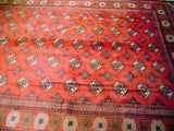 13x9 Authentic Hand Knotted Persian Turkoman Bokhara Rug - Iran