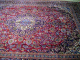 9x13 Authentic Hand Knotted Persian Tabriz Rug - Iran