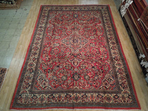 10 x 14 Authentic Handmade Traditional Kashan Rug - Traditional