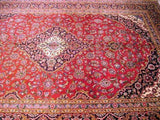 8x12 Authentic Hand Knotted Persian Kashan Rug - Iran