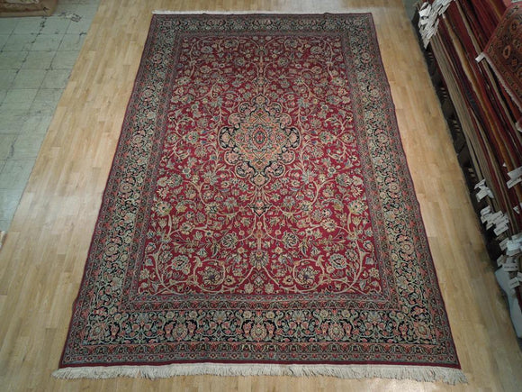 Dazzling 8x13 Authentic Handmade Persian Kerman Rug - Iran