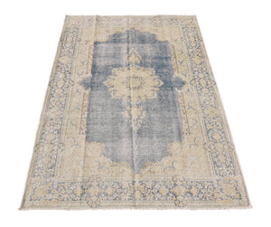 Harooni Rugs - Radiant 6x9 Authentic Hand-knotted Vintage Rug - Pakistan