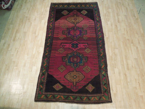 Harooni Originals - 5x9 Authentic Hand Knotted Antique Caucasian Kazak Rug - Traditional