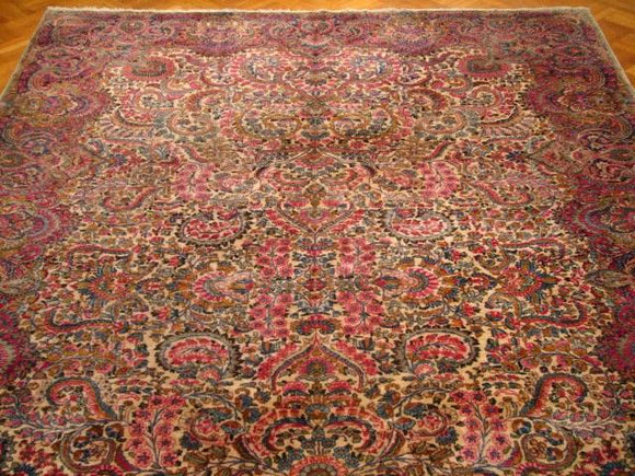 11x17 Authentic Handmade Antique Persian Lavar Kerman Rug-Iran