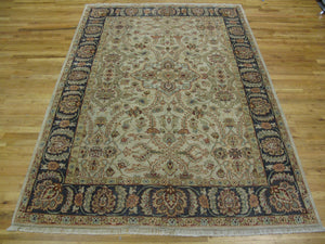 Harooni Rugs - Fascinating 6x8 Authentic Hand-Knotted Vegetable Dyed Chobi Rug - India